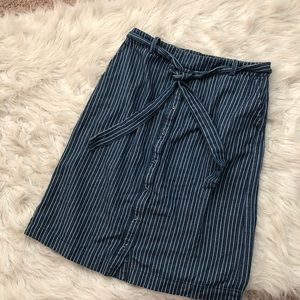 Button down Blue Bohme Skirt